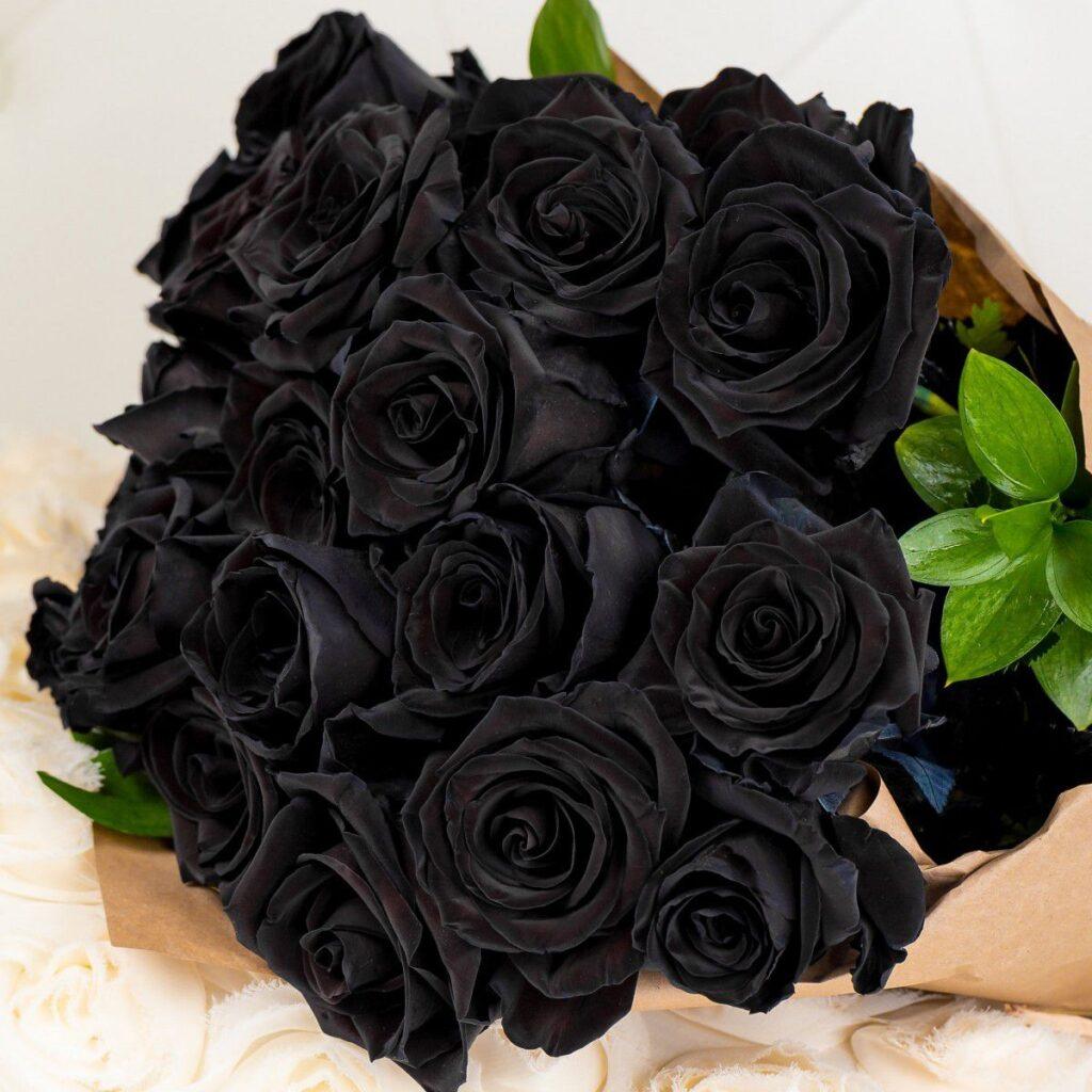 siyah gül buketi